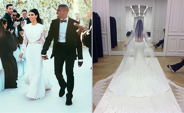 Kim Kardashian Mostra Vestido De Noiva