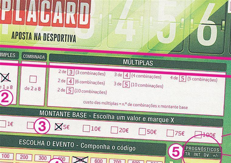 Placard apostas regras