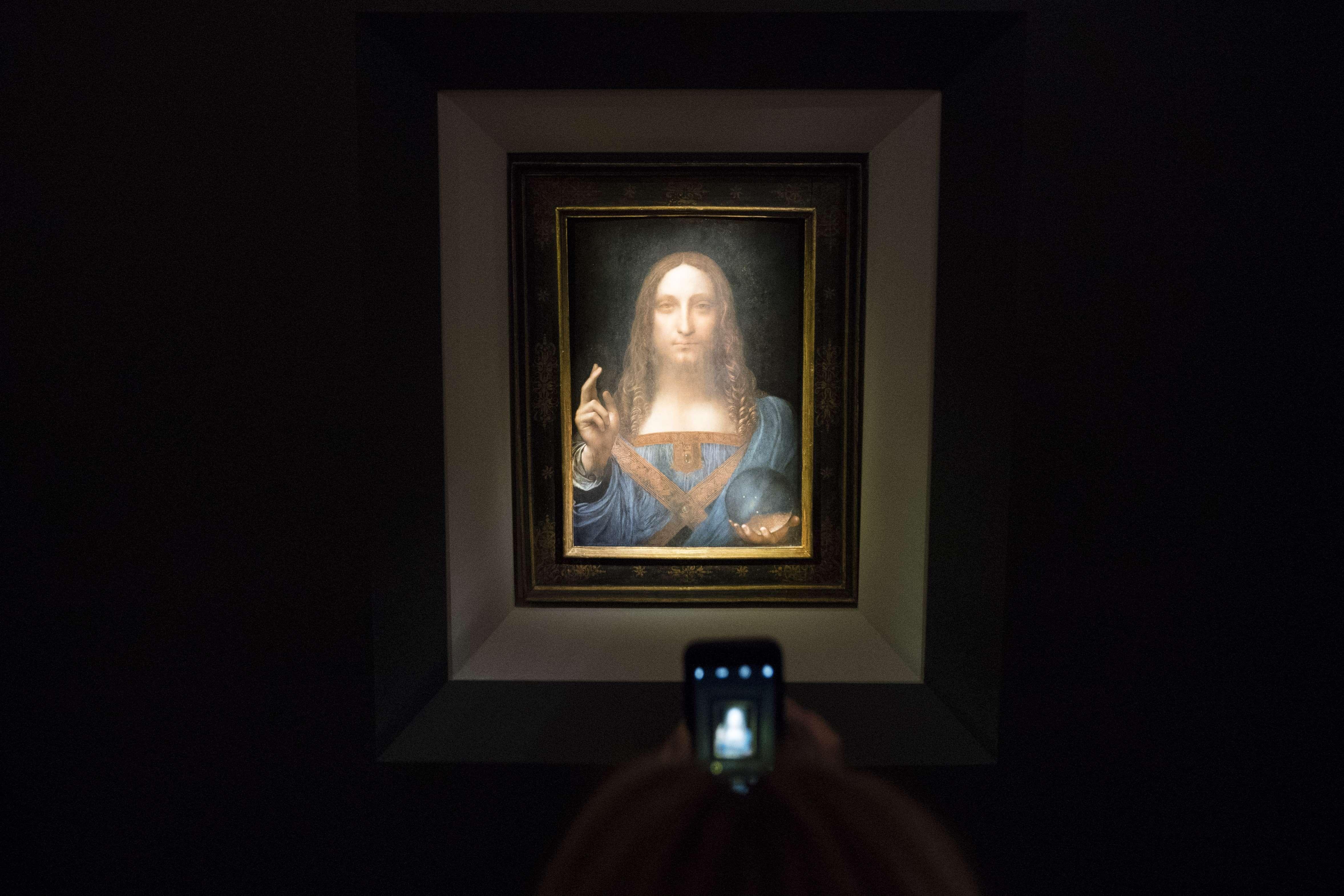 Leilão de retrato de Cristo feito por da Vinci bate recorde