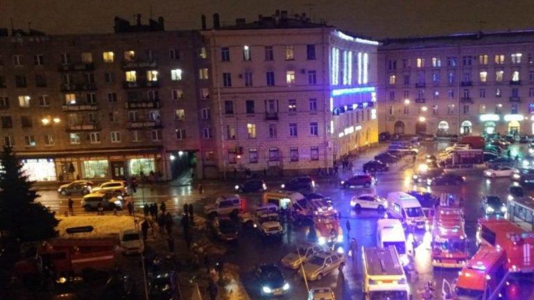 Explosão em mercado de São Petersburgo deixa 'vários' feridos