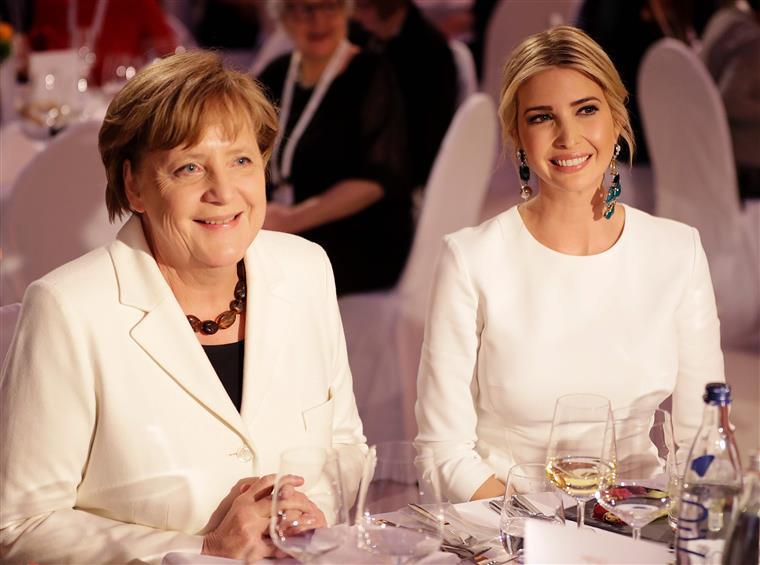 Berlim. Ivanka defende o pai em evento com Merkel e Lagarde