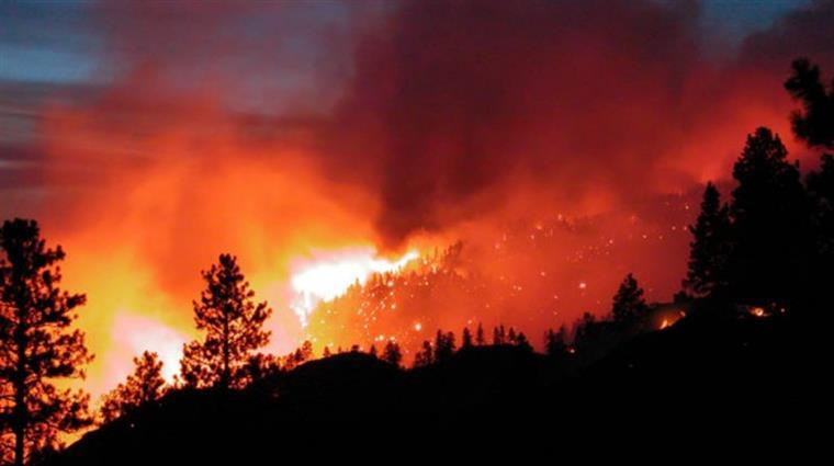A25 cortada devido a incêndio
