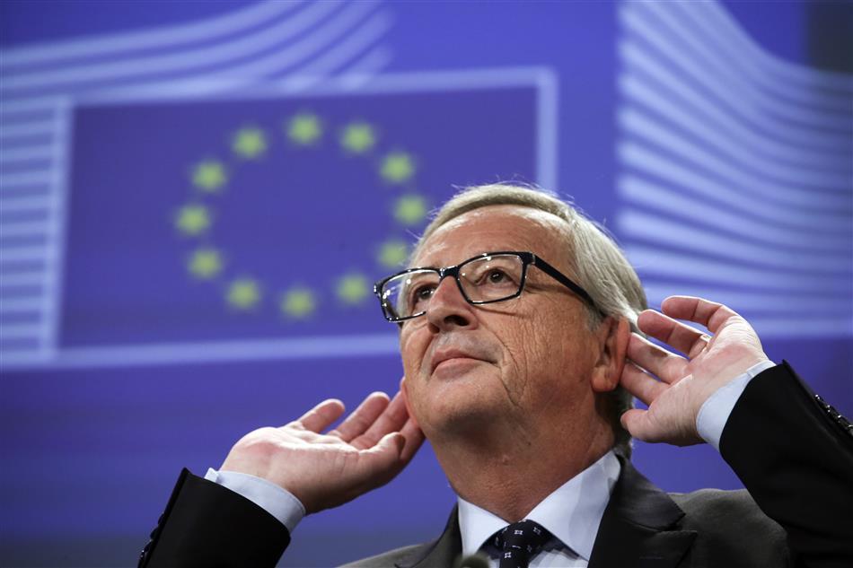 O Parlamento Europeu, quase vazio,
