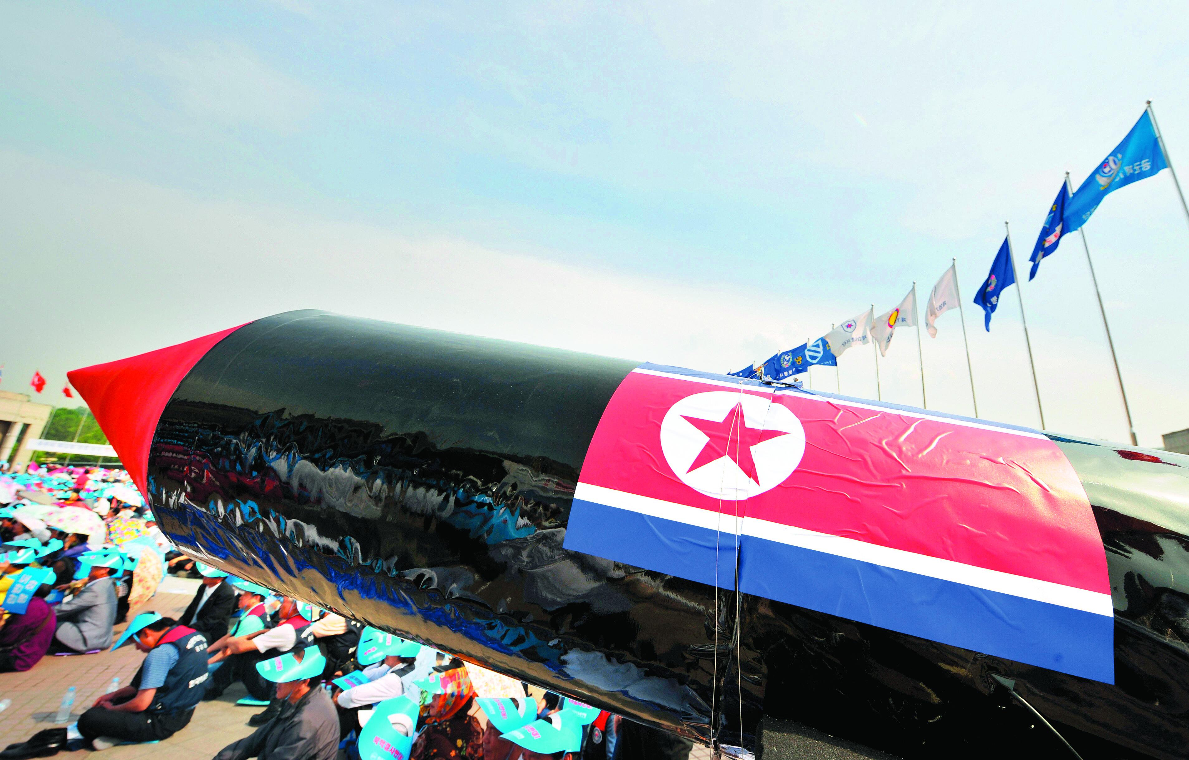 Protestos contra THAAD acabam em confronto com a polícia — Coreia do Sul