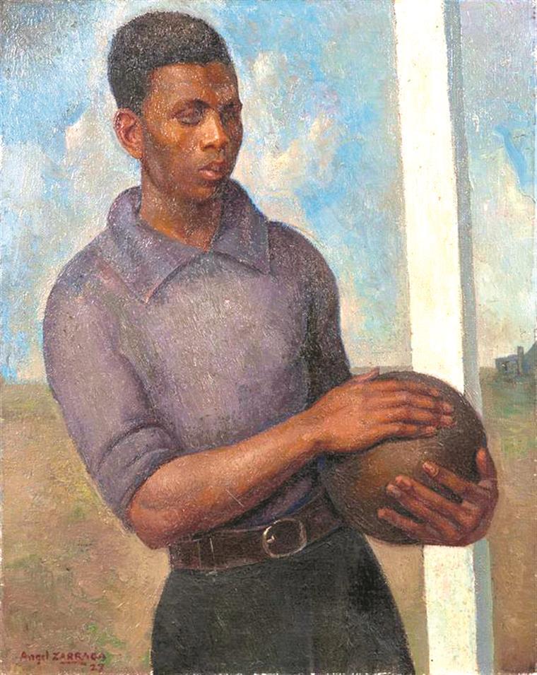 Zárraga. Retrato do artista enquanto futebolista