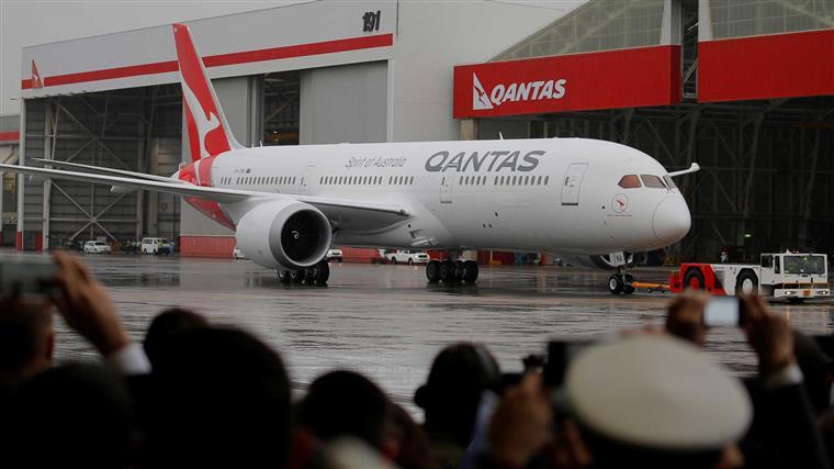 Qantas da austrlia at londres num s voo stopboris Images