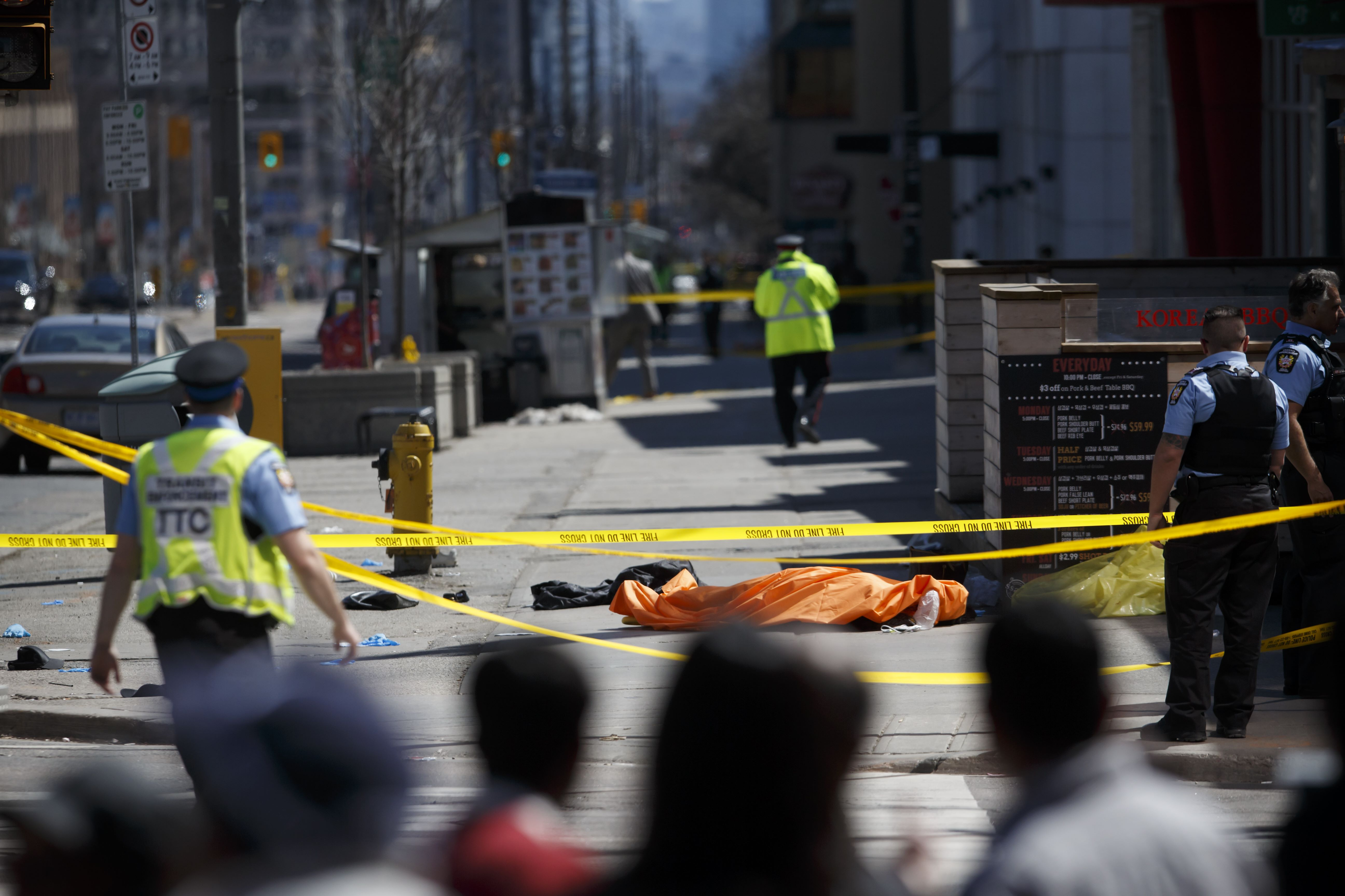 Condutor de carrinha ofereceu resistência à polícia — Toronto