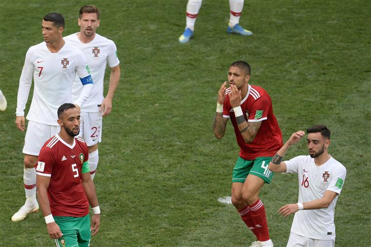 As melhores imagens da partida entre Portugal e Marrocos | Fotogaleria