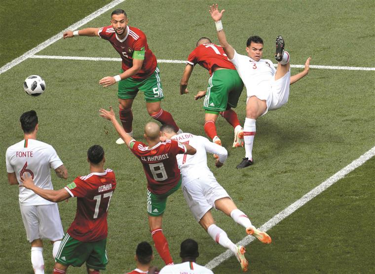 Portugal-Marrocos. Tanto coração a bater fora do peito...