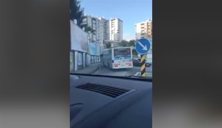 Motorista da Rodoviária apanhado a fazer rotunda em contramão em Lisboa