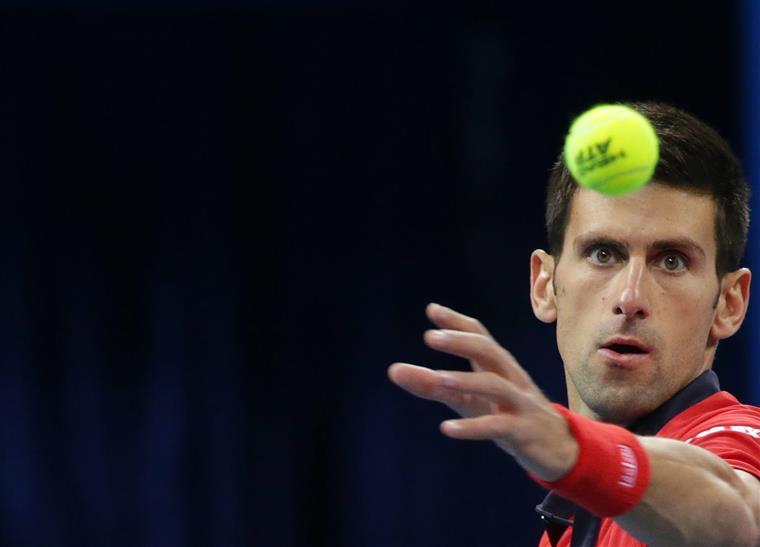 Novak Djokovic manteve concentração até ao fim