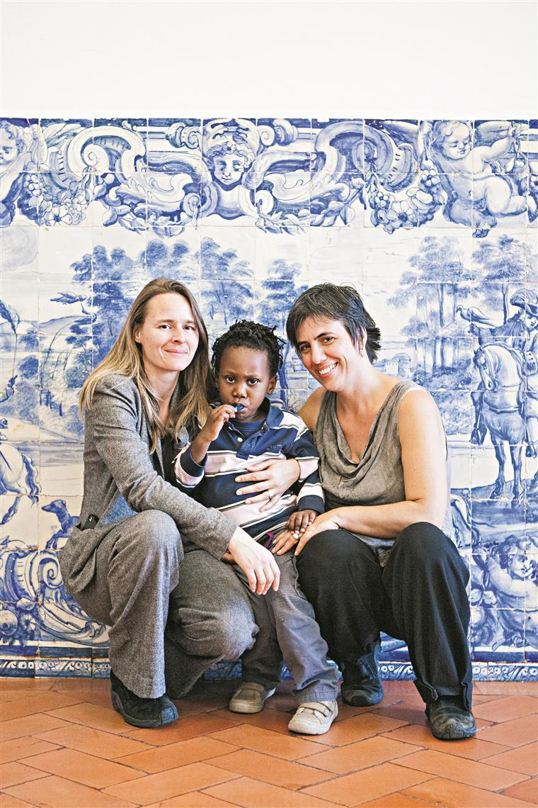 "Syara e Sandra trouxeram Wisderson do Haiti com 18 meses. Foi ""delicioso"", recordam."