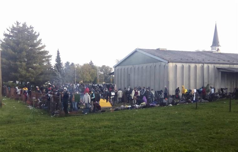 Desde sábado, 34.131 migrantes entraram na Eslovénia