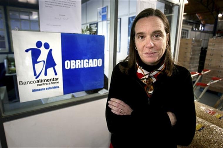 """Isabel Jonet atribuiu esta melhoria da situação das famílias ao """"acréscimo de emprego"""""""