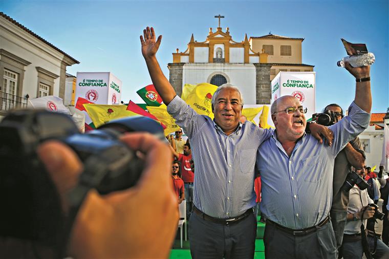 Capoulas Santos na campanha eleitoral com António Costa