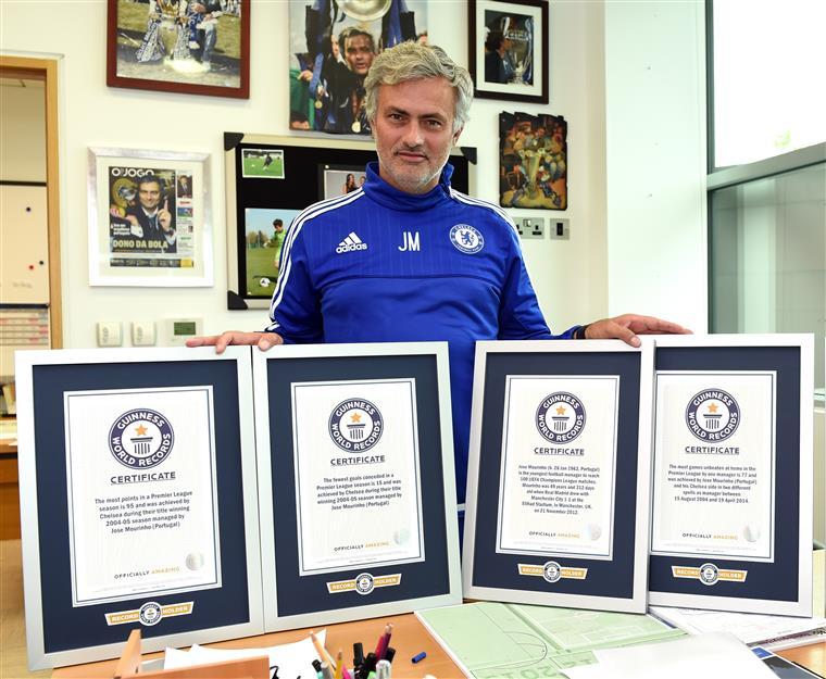 Mourinho bateu cinco recordes