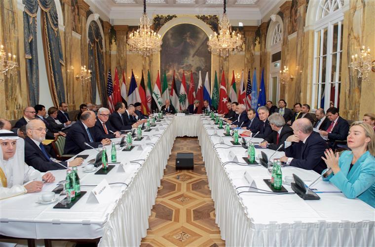 Reunião em Viena onde foi discutida a situação na Síria