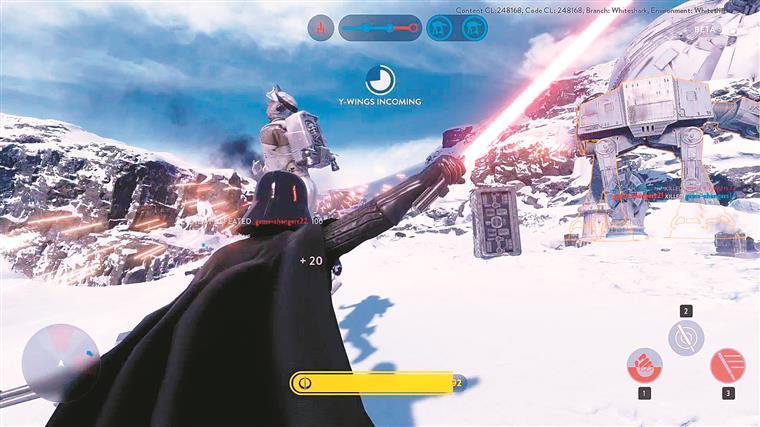 Disparar uns lasers pelas paisagens de Hoth ou Tatooine, pilotar X-Wings, ser um Jedi com a Força numa mão e um sabre de luz noutra ou vestir o fato de Darth Vader porque podemos