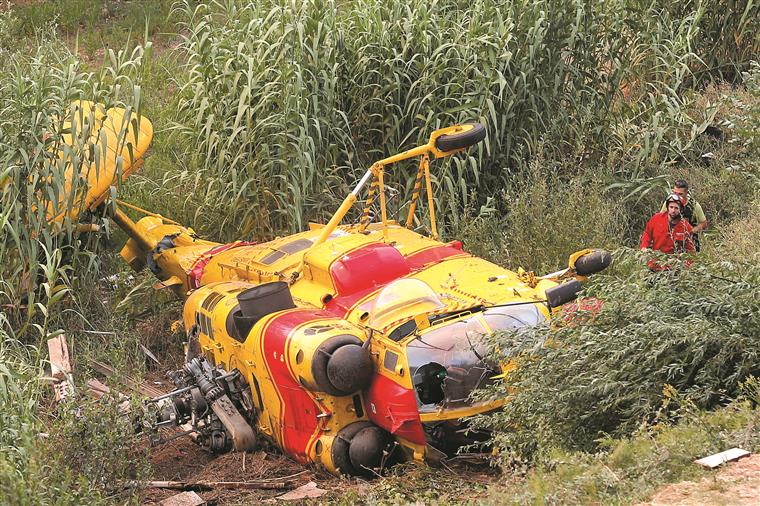 Um dos Kamov sofreu um acidente e nunca mais voou. Não tinha seguro