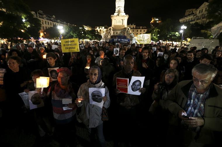 Vigília pelos presos políticos em Angola, no final de Outubro, em Lisboa