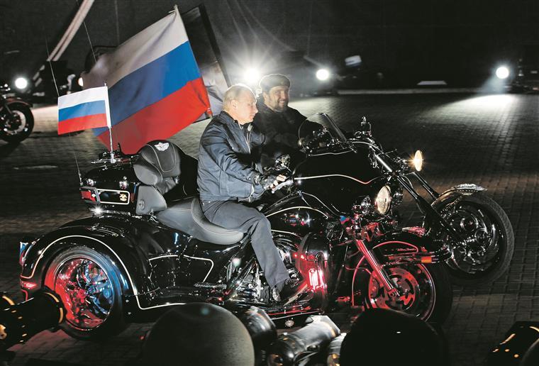Putin motard