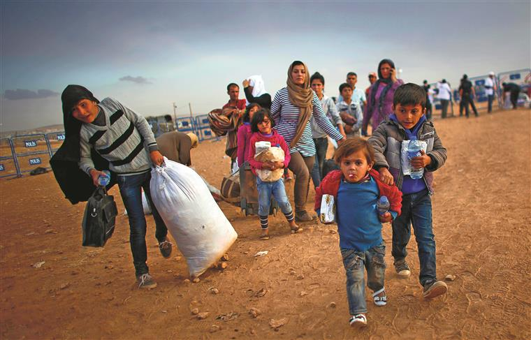 Refugiados na Síria
