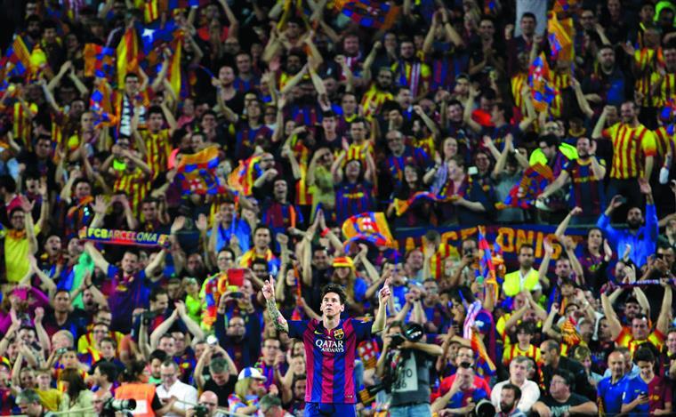 Messi confunde-se com o Barcelona e vice-versa