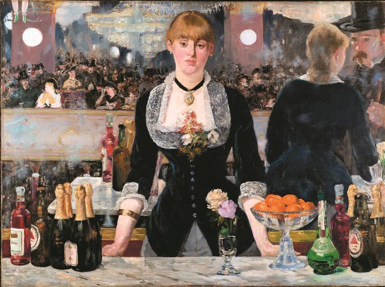 """""""Le Bar aux Folies-Bergère"""", 1881-82  (versão definitiva)"""