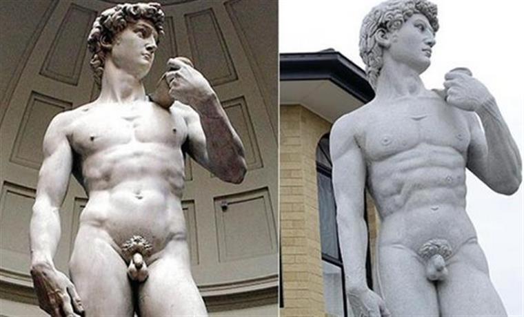 Nas redes sociais já começaram a surgir memes relacionados com a estátua.