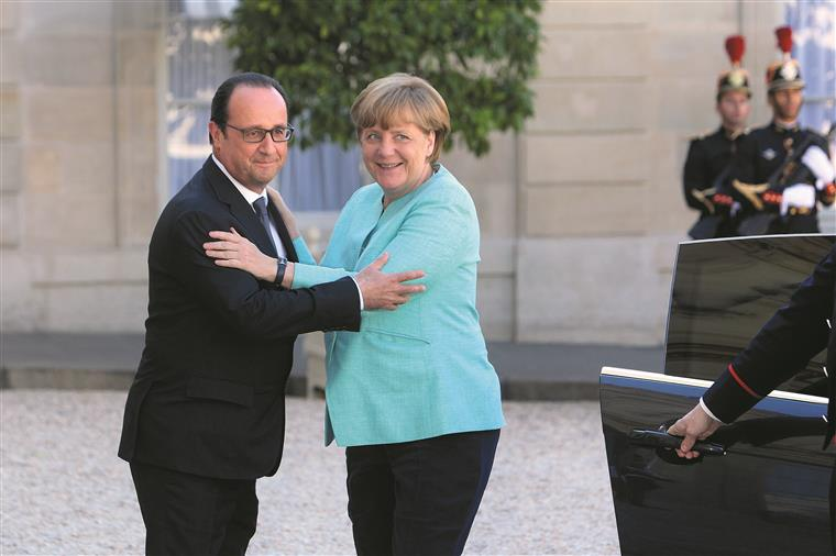 Merkel e Hollande reuniram ontem em preparação da s reuniões de hoje