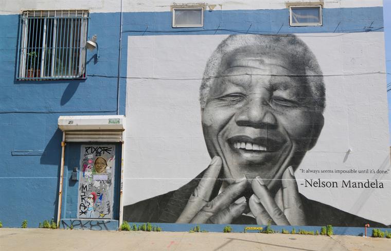 Mural de Mandela em Brooklyn