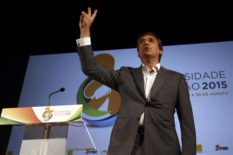 """""""A escolha que vamos ter em Outubro não é uma escolha partidária"""", disse o PM"""