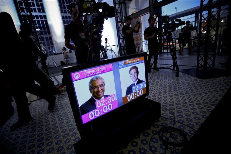Passos e Costa abrandaram a campanha de rua para preparar o debate