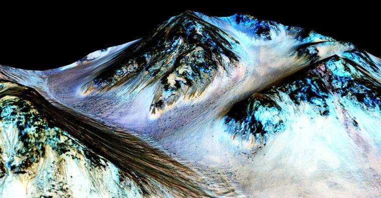 As imagens divulgadas esta segunda-feira pela NASA