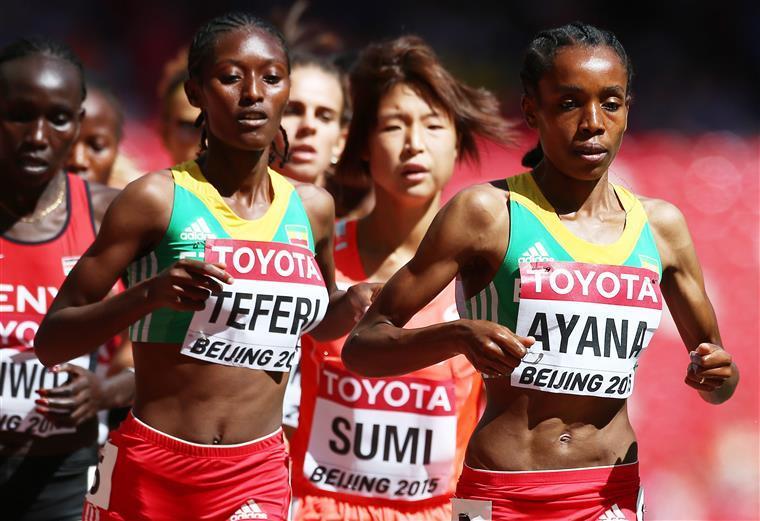 Ayana conseguiu o título num pódio exclusivamente etíope