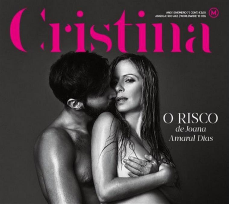 A capa na qual Joana Amaral Dias aparece sem roupa