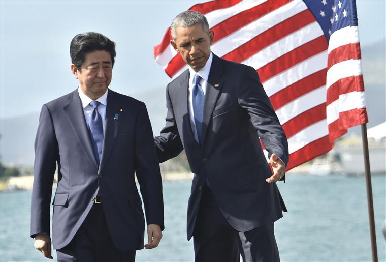 Abe foi recebido por Obama, naquela que poderá ter sido a última receção do presidente a um líder estrangeiro