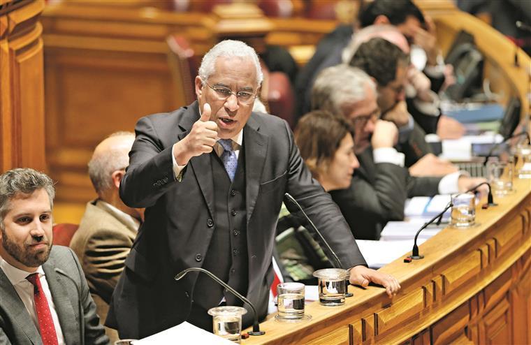 António Costa, ao ataque, não poupou os presentes e os ausentes, como o eurodeputado Paulo Rangel