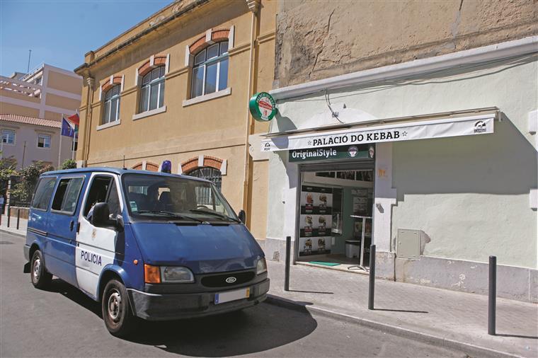 Segurança no local da rixa foi reforçada nas últimas horas para evitar retaliações sobre o dono do estabelecimento Palácio do Kebab