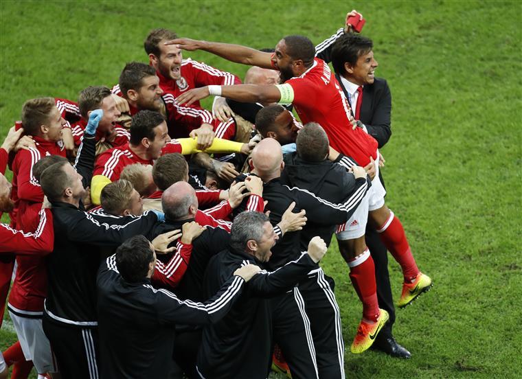 O grande capitão Williams festeja um dos golos à Bélgica nos quartos-de-final
