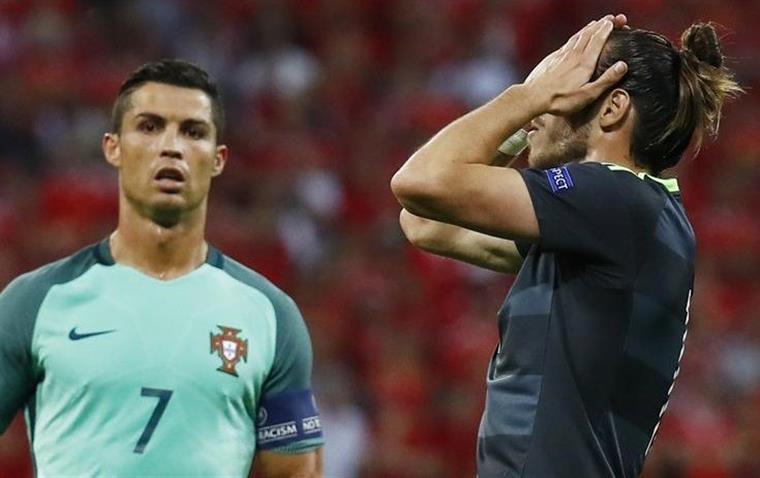 Ronaldo e Bale, juntos no Real Madrid, em lados opostos no Europeu