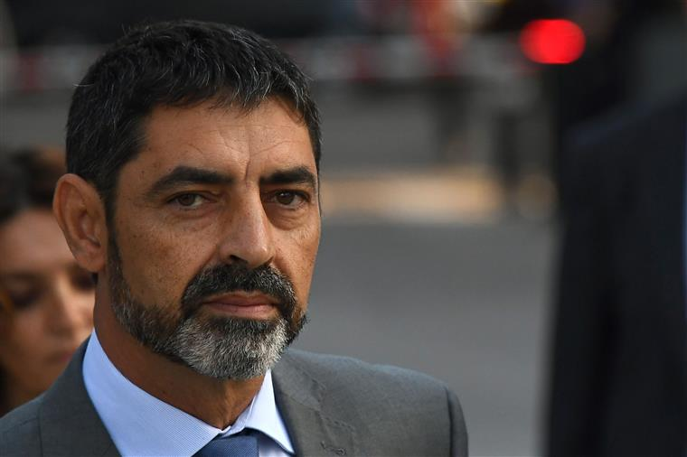 Josep Luis Trapero, à saída da Audiência Naciona
