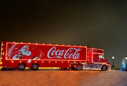 Caravana de Natal da Coca-Cola passará por Taubaté nesta terça
