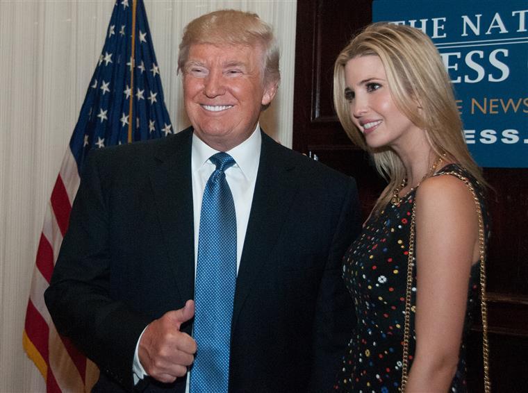 Ivanka Trump é a filha mais velha do presidente