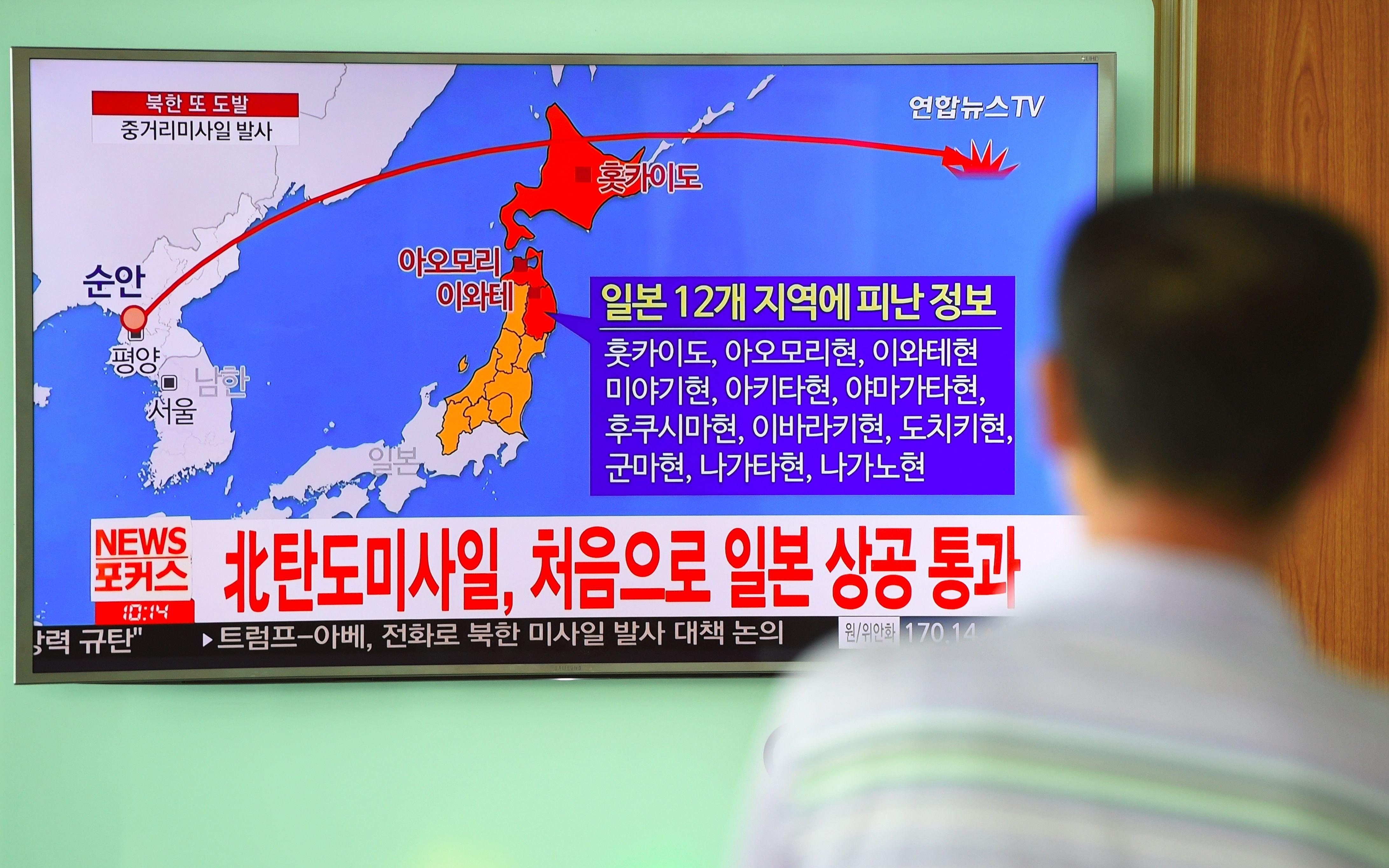 Coreia do Norte lança míssil sobre o Japão, diz governo japonês