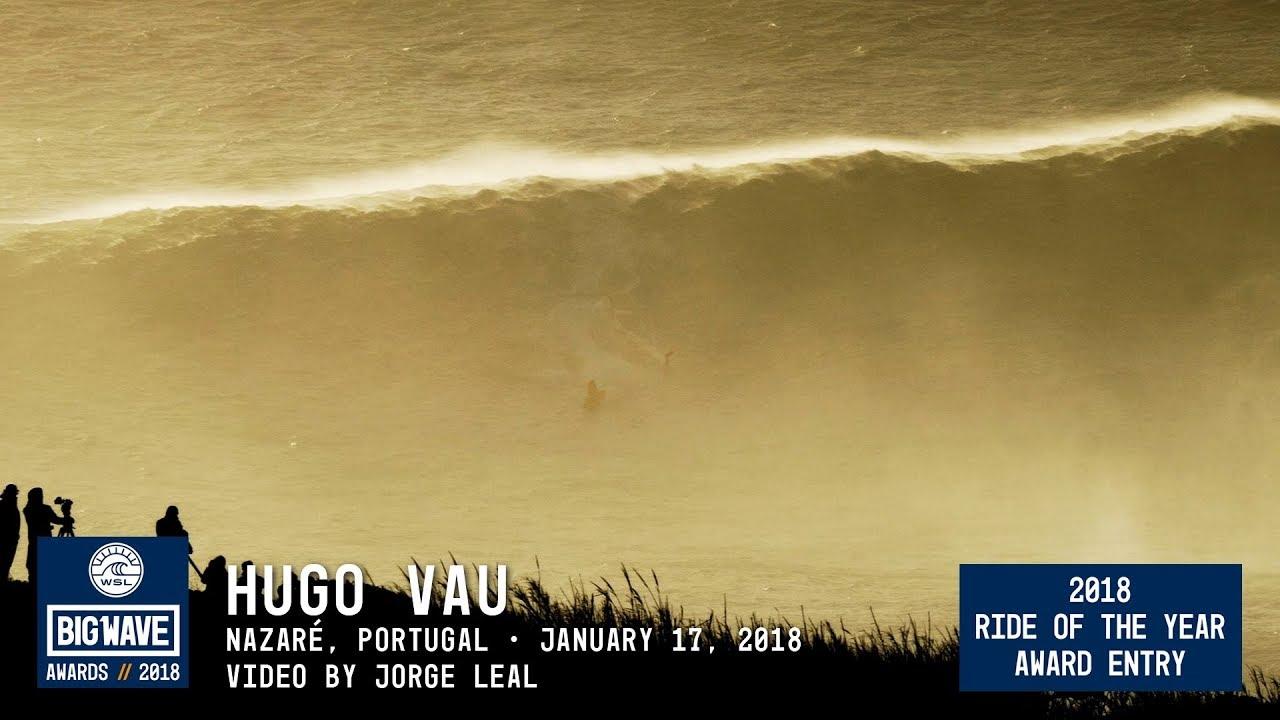 Surfista Hugo Vau apanha onda gigante
