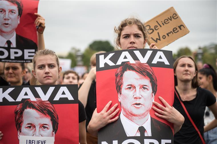 Manifestação contra a nomeação de Kavanaugh para o Supremo, este sábado, em Washington