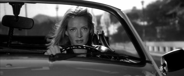 """Imagem da cena do acindente na rodagem de """"Kill Bill"""",  que motivou uma desavença  de anos com Tarantino e à qual só teve acesso recentemente"""