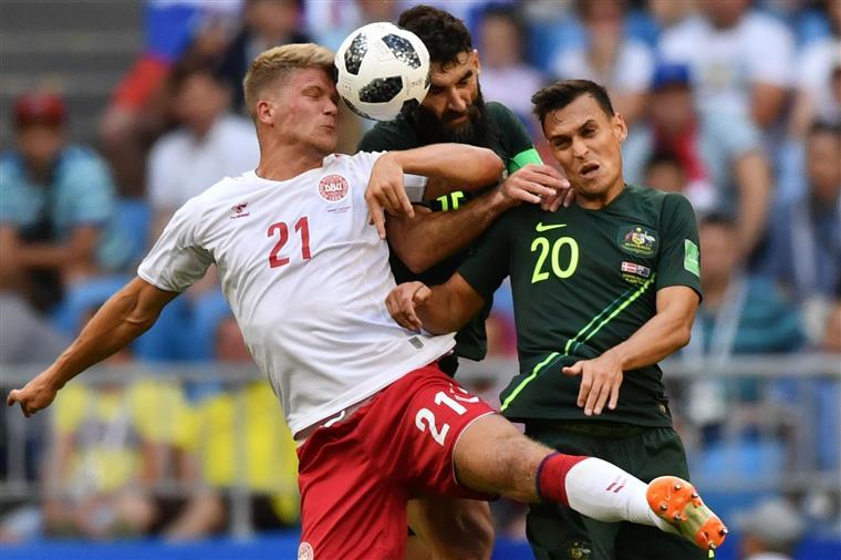 Mundial 2018. Austrália e Dinamarca empatam