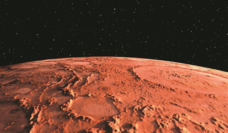 Marte, vulgarmente conhecido como Planeta Vermelho